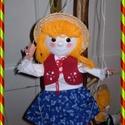 Marionett bábú kislány, Baba-mama-gyerek, Játék, Játékfigura, Készségfejlesztő játék, Igazi kihívásnak vettem, hogy a bábjaim mellé, marionett bábot készítsek. E kedves kislány f..., Meska