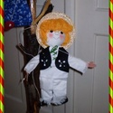 marionett bábú kisfiú, Baba-mama-gyerek, Játék, Báb, Készségfejlesztő játék, Baba-és bábkészítés, Varrás, Igazi kihívásnak vettem, hogy a bábjaim mellé, marionett bábot készítsek. E kedves kisfiú figura fe..., Meska
