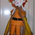 Királyfi kézbáb a Süsü meséből, Baba-mama-gyerek, Játék, Báb, Fajáték, E kedves figura Süsüke egyik kedvence. Hasonlít a mesében szereplőre. A kesztyű test sárga fi..., Meska