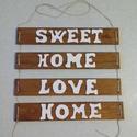 Vintage, rusztikus fali tábla fából, Dekoráció, Otthon, lakberendezés, Kép, Falikép, Kis fa tábla, rajta szintén fából készült írással., Meska