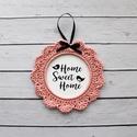 Home Sweet Home, Bájos lakásdekoráció, horgolt képkeretben. A ...
