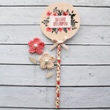 Rózsás tortadekor, Dekoráció, Konyhafelszerelés, Papírból készült dekoráció, hogy igazán passzoljon a torta az alkalomhoz! A kör mérete: 8,5cm. Boldo..., Meska