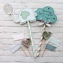 Birthday Boy MiniPakk, Dekoráció, Otthon, lakberendezés, Konyhafelszerelés, Szülinapi tortadekor csomag, kisfiú változat. A csomag 8 darabból áll: egy figurából ( nyuszi, cica,..., Meska