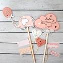 Birthday Girl MiniPakk, Dekoráció, Otthon, lakberendezés, Konyhafelszerelés, Szülinapi tortadekor csomag, kislány változat. A csomag 8 darabból áll: egy figurából ( nyuszi, cica..., Meska
