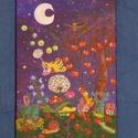 Éjszakai élet - akril festmény , Baba-mama-gyerek, Képzőművészet, Festmény, Gyerekszoba, Festészet, Egyedi kép, alapozott feszített vászonra akril festékkel festve. Szép ajándék lehet gyerekeknek, va..., Meska