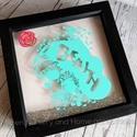 Sugar skull - Falikép, Dekoráció, Otthon, lakberendezés, Kép, Falikép, Decoupage, transzfer és szalvétatechnika, Fotó, grafika, rajz, illusztráció, Sajat dizajn alapjan keszult falikep, sugar skull ( koponya) mintaval. A kep vinyl technikaval keru..., Meska