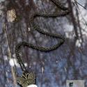 Pillangó álma, Ékszer, óra, Nyaklánc, Csiszolt porcelán bronzszínű foglalatban., Meska