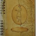 Szakácskönyv - régóta őrzött receptekhez - bélyegzőmintával, Konyhafelszerelés, Naptár, képeslap, album, Receptfüzet, Jegyzetfüzet, napló, Papírművészet, A szakácskönyv az egyetlen könyv, amiről elmondhatjuk, hogy boldoggá tette az embereket. (Joseph Co..., Meska