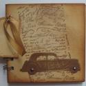 Emlékmegőrző - Nosztalgia idő  - férfiaknak - autókedvelőknek, találkozókra, Naptár, képeslap, album, Férfiaknak, Jegyzetfüzet, napló, Naptár, jegyzet, tok, Papírművészet, Az albumot azoknak a fiúknak, férfiaknak ajándékozhatod, akik különböző autókiállítások, veterán au..., Meska