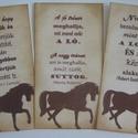 Lovas könyvjelző / emléklap idézettel, névvel, eseményfelirattal- csoportoknak, versenyzőknek, Naptár, képeslap, album, Állatfelszerelések, Lószerszámok, Ajándékkísérő, Papírművészet, (Nézz körül Igenigen boltomban is.)  Tintázással készített könyvjelző / emléklap a lovakat, lovas s..., Meska