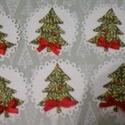 Kör alakú karácsonyi ajándékkísérő/csomaglezáró - fenyőfával, Naptár, képeslap, album, Dekoráció, Karácsonyi, adventi apróságok, Ünnepi dekoráció, Papírművészet, Nézz körül eladott termékeim között is.  A  szeretettel kiválasztott ajándékok, a saját készítésű s..., Meska