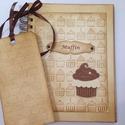 Receptkönyv - különleges, egyedi fényképes receptjeidhez  - muffin dombor- és vágott mintával, könyvjelzővel, Naptár, képeslap, album, Konyhafelszerelés, Receptfüzet, Könyvjelző, Papírművészet, A különleges, egyedi receptjeidet gyűjtheted össze a receptkönyvben, melyben az elkészült süteménye..., Meska