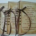 Ajándék apának és anyának - szülőköszöntő album - esküvő - Emlékmegőrző  album  (napló) , Naptár, képeslap, album, Baba-mama-gyerek, Esküvő, Fotóalbum, Papírművészet, NON015 albumjai!!  A lapokra szülőkkel kapcsolatos verseket jegyezhetsz, fényképeket helyezhetsz el..., Meska