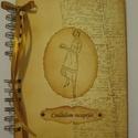 Szakácskönyv -családi,  régóta őrzött receptekhez - bélyegzőmintával, Konyhafelszerelés, Naptár, képeslap, album, Receptfüzet, Jegyzetfüzet, napló, Papírművészet, A szakácskönyv az egyetlen könyv, amiről elmondhatjuk, hogy boldoggá tette az embereket. (Joseph Co..., Meska