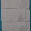 Hófehér téli, karácsonyi pénz(ajándék)átadó boríték - téli születésnapot, névnapot ünneplők részére is, Naptár, képeslap, album, Karácsonyi, adventi apróságok, Ajándékkísérő, képeslap, Ajándékkísérő, Pénz- vagy ajándékutalvány átadására készült zsebes borítékok, ajándékátadó kártyáv..., Meska