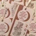 Könyvjelző - emléklap - ballagás - pedagógus - diplomaátadás  - osztálytalálkozó - könyv - ajándékkísérő , Naptár, képeslap, album, Ajándékkísérő, Papírművészet, Ballagási emlékkártya - ajándékkísérő bélyegzőmintával, felirattal és évszámmal - ballagó diákoknak..., Meska