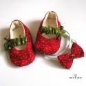 Eperke cipő és hajpánt megrendelésre, Cashmere megrendelésére készült ez az eperke c...