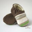 Kék-zöld nyári csíkos cipellő , Ezt a cipőt Gigiart részére készítettem 10 ce...