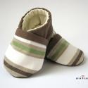 Nyári csíkos fiú cipő, Erős csíkos és egyszínű vászonból készíte...