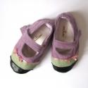 Lila-zöld kord cipő megrendelésre, Sanandi kérésére készült lila kord és zöld ...