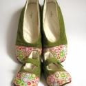 Bohém virágos anya lánya , Ez a cipőpáros Birge megrendelésére készült....