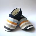 Kék kord csíkokkal, Bkandrea részére készült ez a fiú cipő kék ...