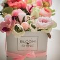 Viárgdoboz, Dekoráció, Esküvő, Otthon, lakberendezés, Mindenmás, Virágkötés, Selyemvirágból készült,szeretettel fűszerezett örök virágdobozok.Kérésre bármilyen színekkel elkész..., Meska
