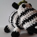 horgolt zebra, Baba-mama-gyerek, Játék, Készségfejlesztő játék, Baba játék, un. amigurumi: horgolt zebra mosható vatelin töltettel   17 cm magas   tetszőleges színben kérh..., Meska