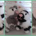 horgolt cica, Baba-mama-gyerek, Játék, Készségfejlesztő játék, Baba játék, un. amigurumi: horgolt cica mosható vatelin töltettel   15 cm magas  tetszőleges színben kérhet..., Meska