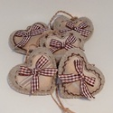 Beige melír- barna filc díszek., Stone beige melír színű filcből készültek,6 ...