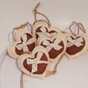 Beige - barna filc díszek., Beige színű filcből készültek,6 cm hosszúak,...