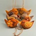 Madárkák az ősz színeiben, 6 db.-ból álló szett .Méretük :kb. 8×4 cm . ...