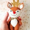 """Rudolf , Rudolf gyapjúfilcből készült rénszarvas """"baba..."""