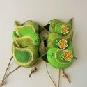 zöld rét madárkák, 6 db.-ból álló szett .Méretük :kb. 8×4 cm . ...
