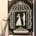 Esküvői képeslap 2, 3D házasságkötés, wedding , Naptár, képeslap, album, Esküvő, Képeslap, levélpapír, Meghívó, ültetőkártya, köszönőajándék, Mindenmás, Papírművészet, Scrapbook és punchart technikával készítettem ezt az esküvői képeslapot. Kinyitható, a belső lap ez..., Meska