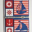 Tengerész képeslap, tenger, horgony, hajó, vitorlás, mentőöv, kormánykerék, Balaton, tengerészcsomó, nyár, nyaralás, , Otthon & lakás, Férfiaknak, Naptár, képeslap, album, Képeslap, levélpapír, Papírművészet, Vidám tengerész képeslapot készítettem a nyár jegyében. Bármilyen alkalomra adható, férfinak, nőnek..., Meska