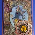 """""""Steampunk Lady """" képeslap, óra, idő, fogaskerék, pillangó, time , Naptár, képeslap, album, Férfiaknak, Képeslap, levélpapír, Steampunk ajándékok, Papírművészet, Egyedi steampunk képeslapot készítettem, melyet bármilyen alkalomra adhatsz, férfinak , nőnek. Úgy ..., Meska"""