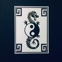 Sárkányos yin yang képeslap Ázsia, Kína, jin jang, sárkány