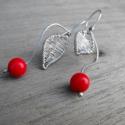 MÁJUSI csresznye ezüst fülbevaló (Mineral) - Meska.hu