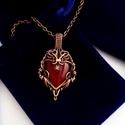 Szívembe zártalak - Szív nyaklánc, Ékszer, Nyaklánc, Szívembe zártalak - Szív nyaklánc  Egyedi tervezésű fordított csepp alakú ásvány szív for..., Meska
