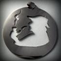 Sherlock Holmes medál, Ékszer, Képzőművészet, Medál, Nyaklánc, Ezüst lemezből fűrészeltem ki Sherlock Holmes-ra jellemző alakot. Kb 3cm átmérőjű.  Gyűrűként is leh..., Meska