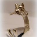 Ezüst Staffordshire gyűrű, Ékszer, óra, Képzőművészet, Gyűrű, Szobor, Ékszerkészítés, Ötvös, Egyedileg, kézzel viaszból mintázott, utána ezüstből kiöntött gyűrű  Mérete állítható!  Ha más álla..., Meska