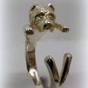 Vágott fülű Cane Corso, Ékszer, óra, Képzőművészet, Gyűrű, viaszból mintáztam és utána fémből kiöntettem a gyűrűt  állítható méretű, Meska