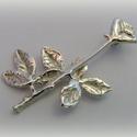 Ezüst rózsa medál, Ékszer, óra, Képzőművészet, Medál, Nyaklánc, Ékszerkészítés, Ötvös, Viaszból mintáztam ezt a medált, utána ezüstből kiöntettem és kidolgoztam.  Mérete kb 3-3,5 cm, Meska