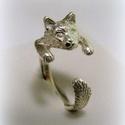 Ezüst Maine Coon cica gyűrű, Ékszer, Képzőművészet, Mindenmás, Gyűrű, Viaszból mintázott, utána 925-ös ezüstből kiöntött gyűrű  Bármilyen méretre beállítható!..., Meska