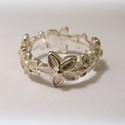 Ezüst virágos gyűrű, Ékszer, Képzőművészet, Gyűrű, 925-ös ezüstből készül Kérlek rendeléskor üzenetben add meg az ujj méreted., Meska