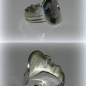 Ezüst kulcs gyűrű, Ékszer, óra, Képzőművészet, Gyűrű, Ékszerkészítés, Ötvös, 925-ös ezüst  Állítható méretű, de kérlek rendeléskor üzenetben adj meg egy körülbelüli méretet, ho..., Meska