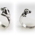Ezüst Dalmata gyűrű, Ékszer, Képzőművészet, Gyűrű, Szobor, Viaszból mintázom az állatos gyűrűket, utána ezüstből kiöntetem.  Van lehetőség aranyból is kérni, e..., Meska