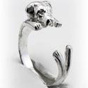 Ezüst  Cane Corso gyűrű, Ékszer, Képzőművészet, Gyűrű, Viaszból mintázom az állatos gyűrűket, utána ezüstből kiöntetem.  Van lehetőség aranyból is kérni, e..., Meska