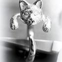 Ezüst cicás gyűrű, Viaszból mintázom az állatos gyűrűket, utána...